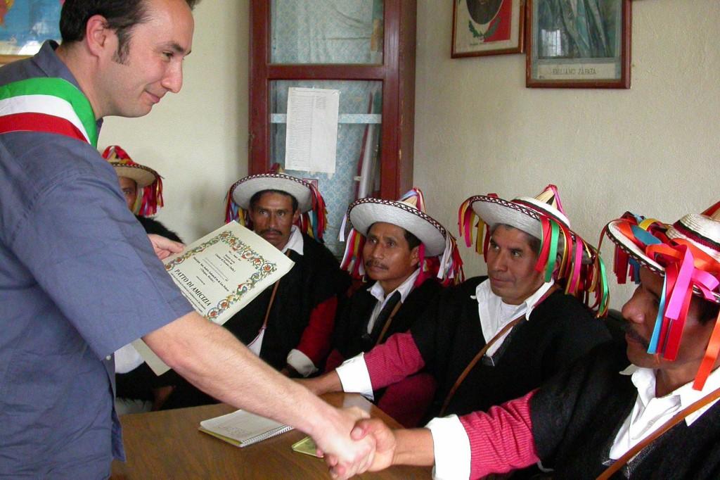 cerimonia di gemellaggio tra Pescara e San Andrés Sakamch'en de los Pobre