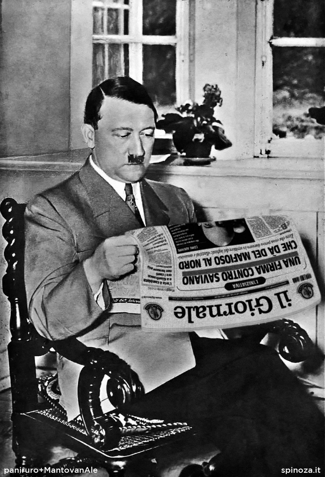 hitler legge il giornale